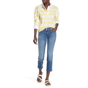 Hudson Ginny Straight Crop Jeans NWT